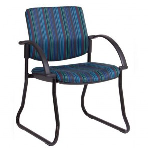Asher Waiting Room Chair with Arms & Sled Legs
