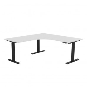 Aspire Electric Sit Stand Corner Desk Black Frame