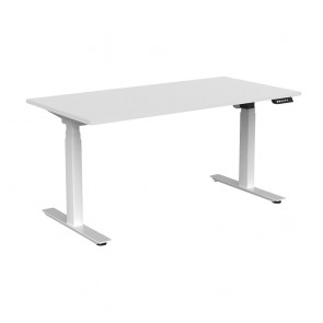 Aspire Electric Sit Stand Office Desk White Frame