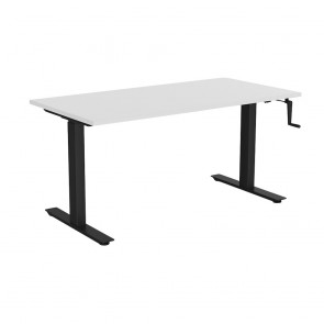 Aspire Manual Height Adjustable Office Desk Black Frame
