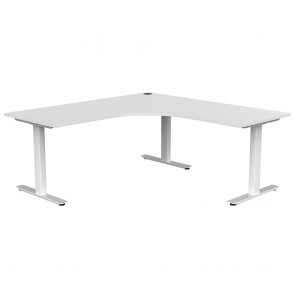 Aspire Office Corner Desk Workstation White Frame
