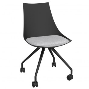 Astrid Black Chair with Castor Base