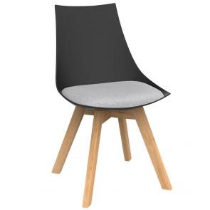 Astrid Black Chair with Oak Base