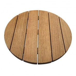 Australian Oak Round Outdoor Table Top