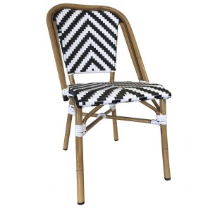 French Chevron Wicker Outdoor Chair