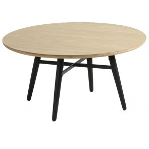 Ava Coffee Table Oak Top Black Legs