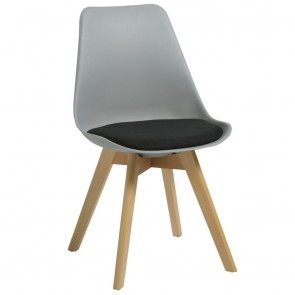 Ava Poly Chair Upholstered Seat with Wooden Frame