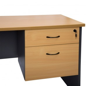 Beech 2 Drawer Fixed Office Pedestal