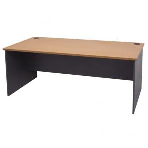 Beech Straight Office Desk