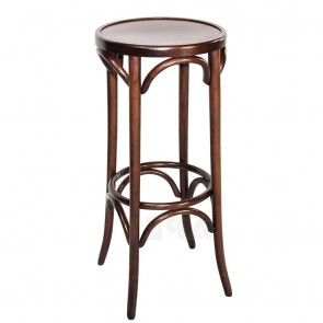 Colour Bentwood Bar Stool by Michael Thonet Walnut
