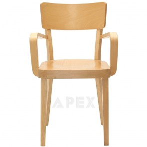 Oak Bentwood Chair with Armrests B-9449