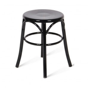 Bentwood Low Stool Metal