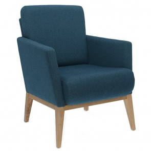 Bentwood Upholstered Arm Chair B-1430