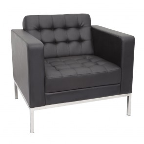 Black Club Sofa Reception Lounge Single Seater