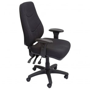 Black Fabric Ergonomic Executive Chair