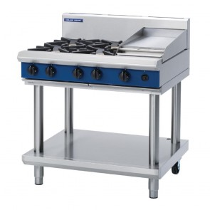 Blue Seal by Moffat 4 Burner Natural Gas Cooktop and Griddle G516C-LS