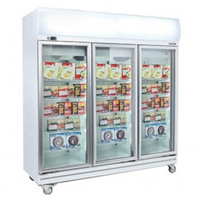 Bromic 1500L LED Three Door Display Freezer UF1500LF