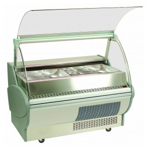 Bromic 1500mm Heated Bain Marie Food Display with Hydraulic Lift-Up Glass BM150P