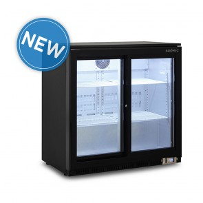 Bromic 190L Horizontal Display Bar Fridge with Two Sliding Doors BB0200GDS