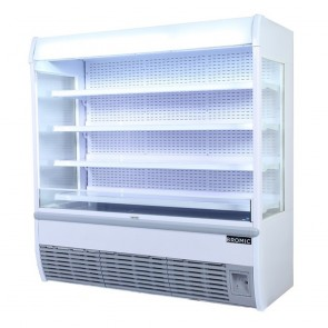 Bromic 1913L LED Open Display Supermarket Fridge VISION1800