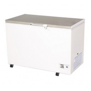 Bromic 296L Durable PVC Chest Freezer with Stainless Steel Lift-Up Lid CF0300FTSS