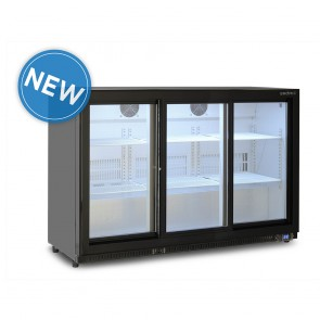 Bromic 307L Horizontal Display Bar Fridge with Three Sliding Doors BB0330GDS