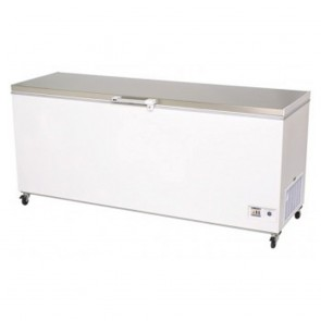 Bromic 675L Durable PVC Chest Freezer with Stainless Steel Lift-Up Lid CF0700FTSS