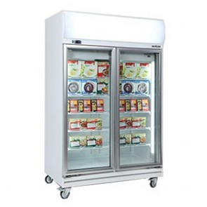 Bromic 976L LED Two Door Display Freezer UF1000LF
