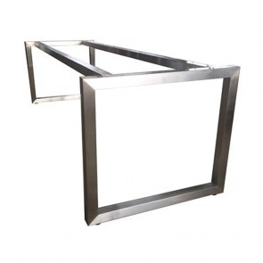 Cathalina Modern Stainless Steel Table Base 80 x 240cm