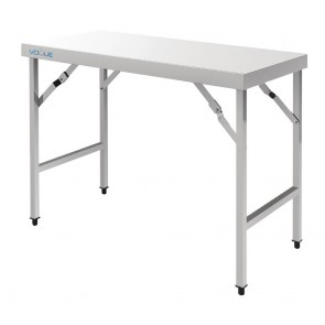 CB905 Vogue Stainless Steel Folding Table - 1200x600x900mm