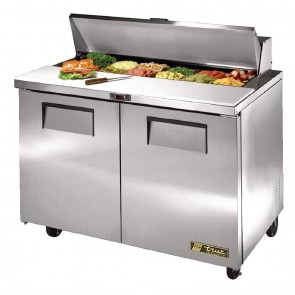 CC234-A True Salad Prep Counter 2 Doors - 12x1/6 GN Pan Top