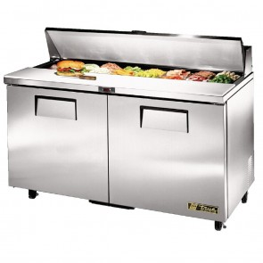 CC235-A True Salad Prep Counter 2 Doors - 16x1/6 GN Pan Top
