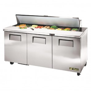 CC236-A True Salad Prep Counter 3 Doors - 18x1/6 GN Pan Top