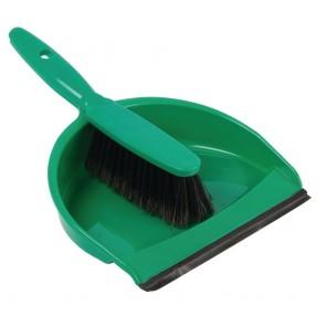CC933 Jantex Soft Dustpan & Brush Set - Green