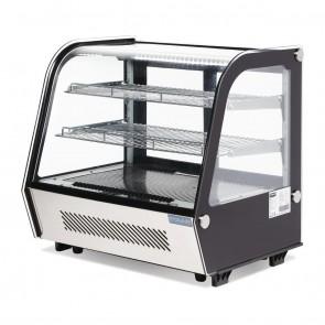 CD229-A Polar G-Series Countertop Food Display Fridge Black 120 Litre