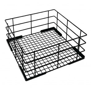 CD243 Vogue Wire High Sided Glass Basket - 180(h)x400(w)x400(d)mm