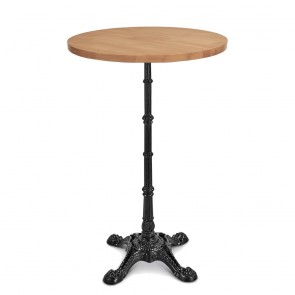 Celestine Vintage Industrial Square Bar Table Black Cast Iron Base