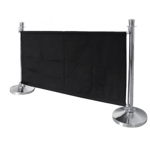 CF137 Bolero Black Banner with Stainless Steel Fixings