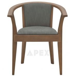 Circular Padded Arm Chair B-0022/1
