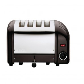 CK555-A Dualit Classic Vario Toaster 4 Slice Black Matt