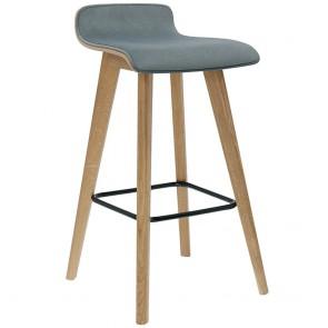 Cleo Wood-backed Upholstered Barstool BST-1605