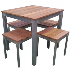 Commercial Outdoor Table and Stools Set