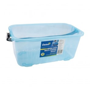 CP605 Oates Extra Wde Multi-Purpose Bucket Blue - 12 Litre
