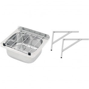 CP690 3Monkeez Cleaners Sink with Grate & Brackets - 31.2 Litre