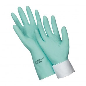 CR123-L Oates Durafresh Antibacterial Flock Lined Rubber Gloves - Large