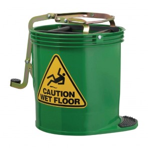 CR724 Oates Contractor Roller Wringer Bucket Green - 15 Litre