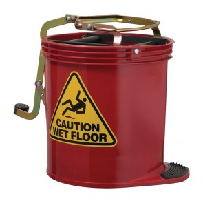 CR725 Oates Contractor Roller Wringer Bucket Red - 15 Litre
