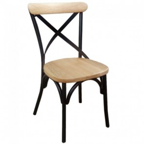 Cross Back Stackable Chair