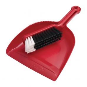 CT724 Oates Dustpan & Bannister Set Red