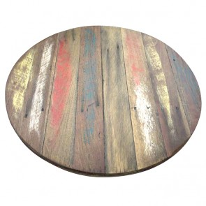 Custom Reclaimed Round Timber Table Top